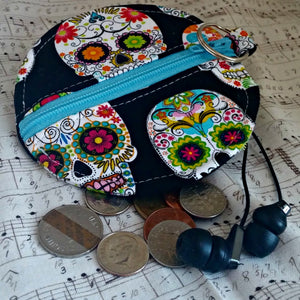 Sugarskulls Earbuds Case or Coin Case