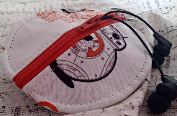 BB-8 Earbuds Case or Coin Case