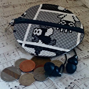 Mario Bros Pixel Earbuds Case or Coin Case