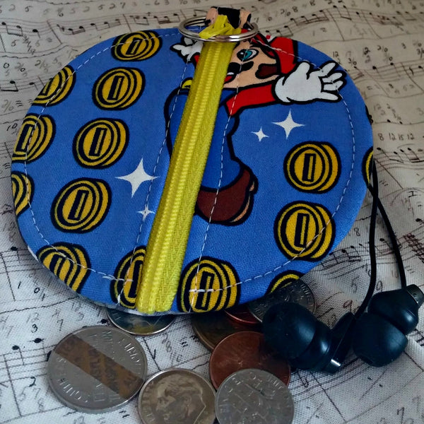 Mario Coins Earbuds Case or Coin Case