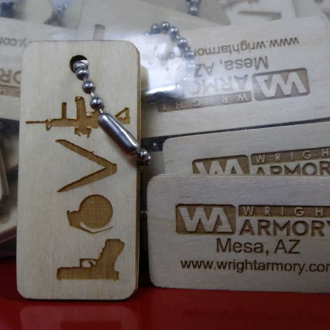 Wright Armory - Love Key Chain