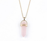 Natural Crystal Stone Pendant Necklace