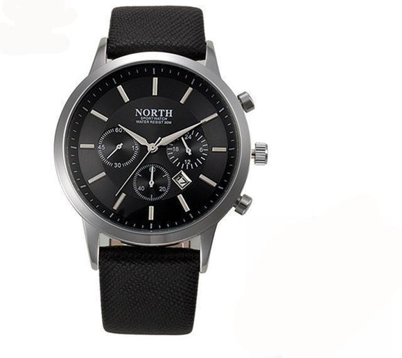 Mens Luxury Military Leather Watch