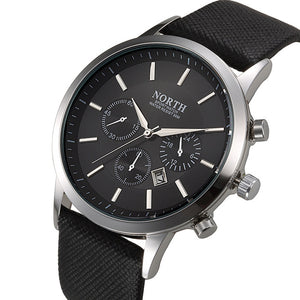 Mens Chronograph Leather Watch