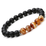2 pc. Natural stone Black Mantra Beads