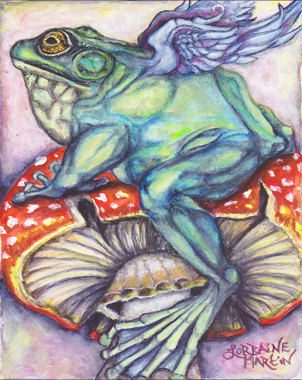 Angel Frog Giclee Canvas Print