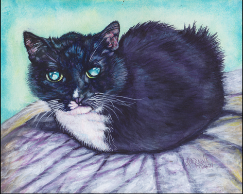 Baggins Tuxedo Cat Giclee Canvas Print