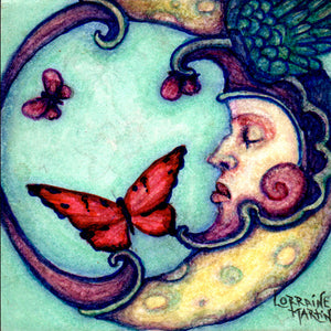 Butterfly Moon Luster Prints - The Butterfrog