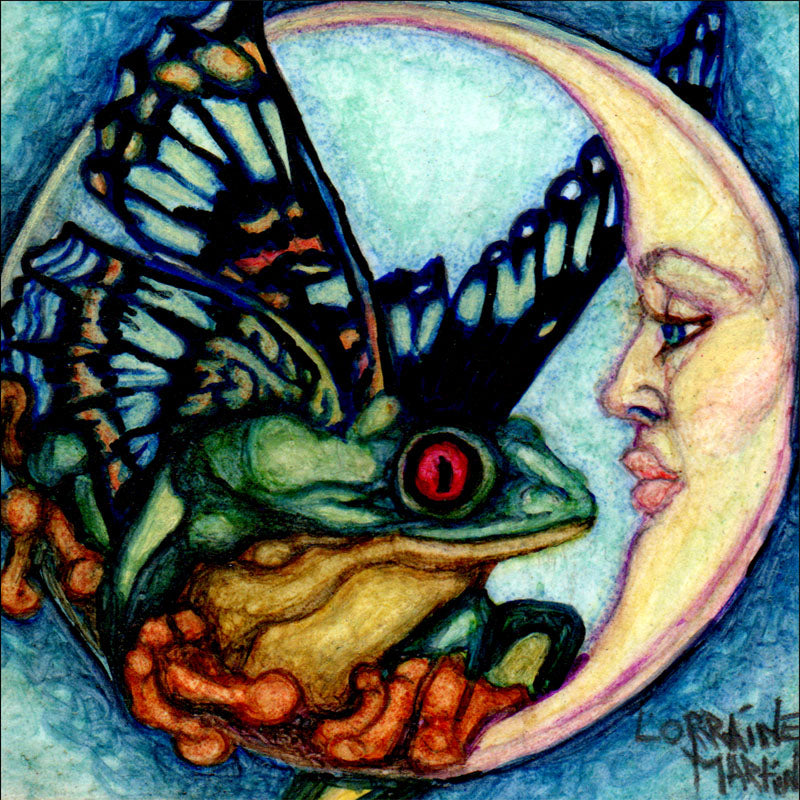 Butterfrog Moon {Coptic Marker} Luster Print