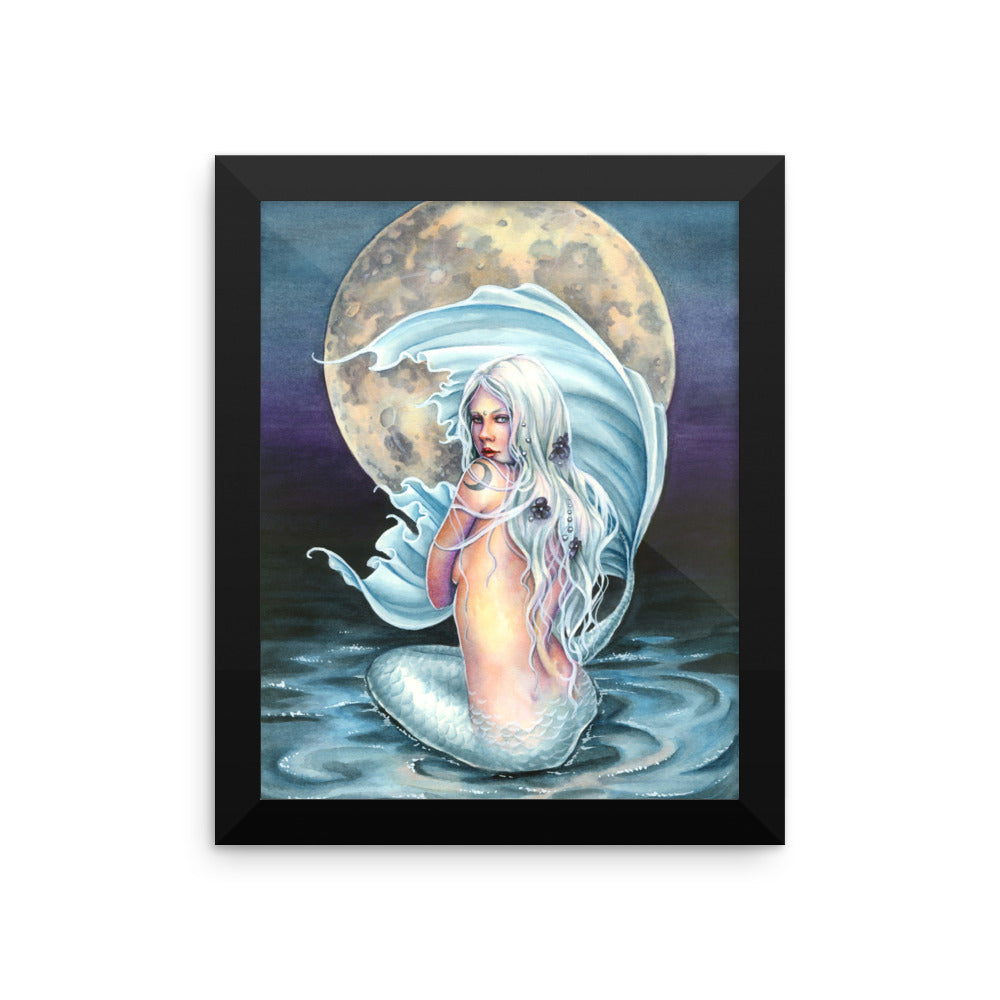 Framed Print - Moon Mermaid