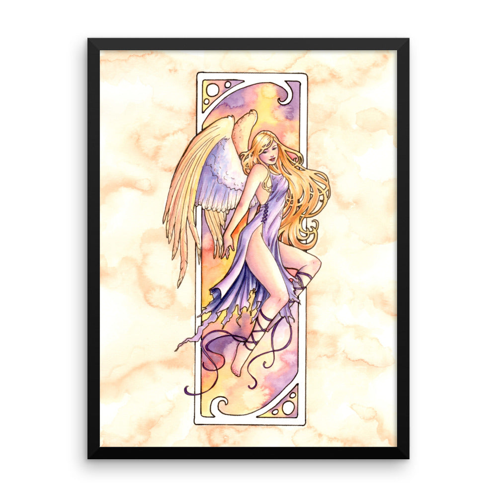 Framed Print - Nouveau Angel of Joy