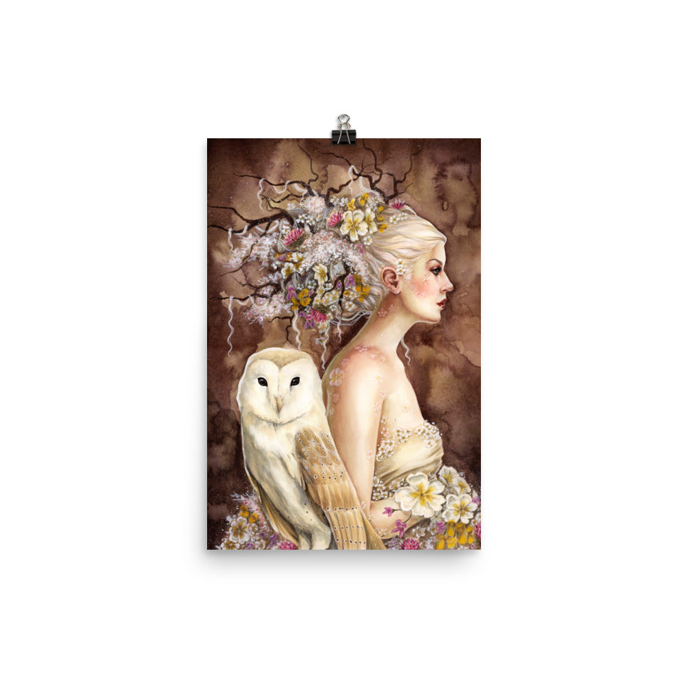 Art Print - Blodeuwedd in Bloom