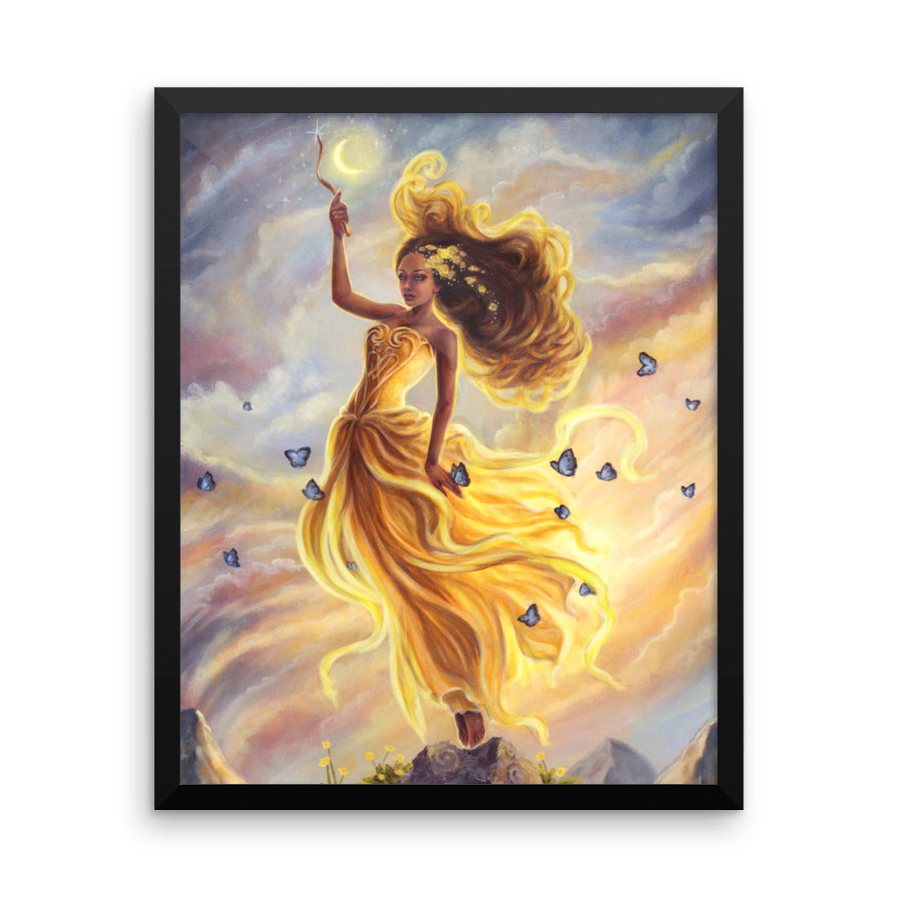 Framed Print - Lady of Air