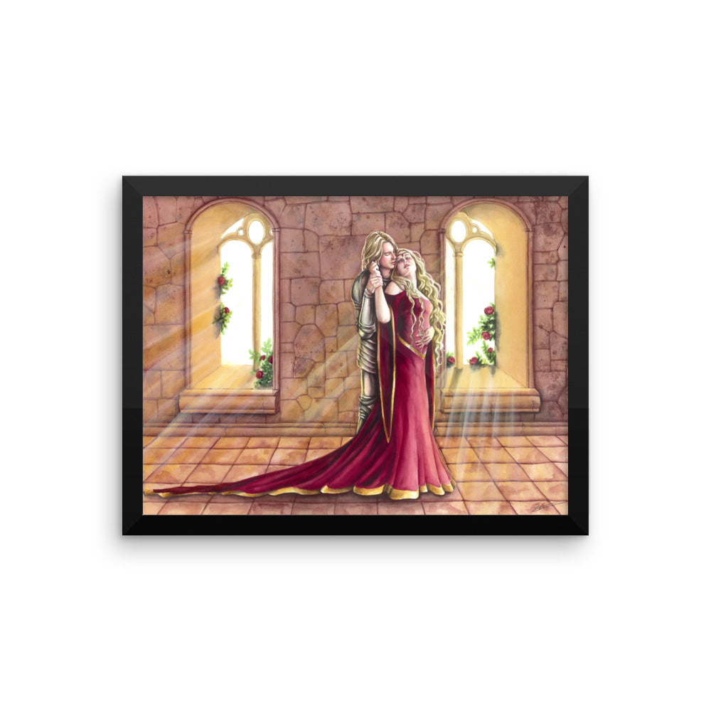 Framed Print - Forbidden Love, Lancelot and Guenevere