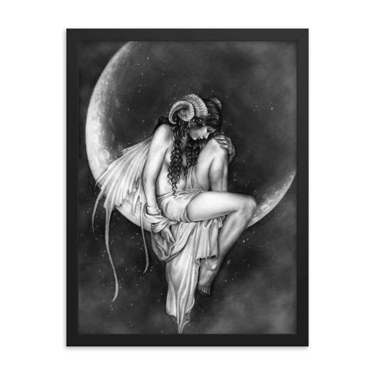 Framed Print - Dark Moon