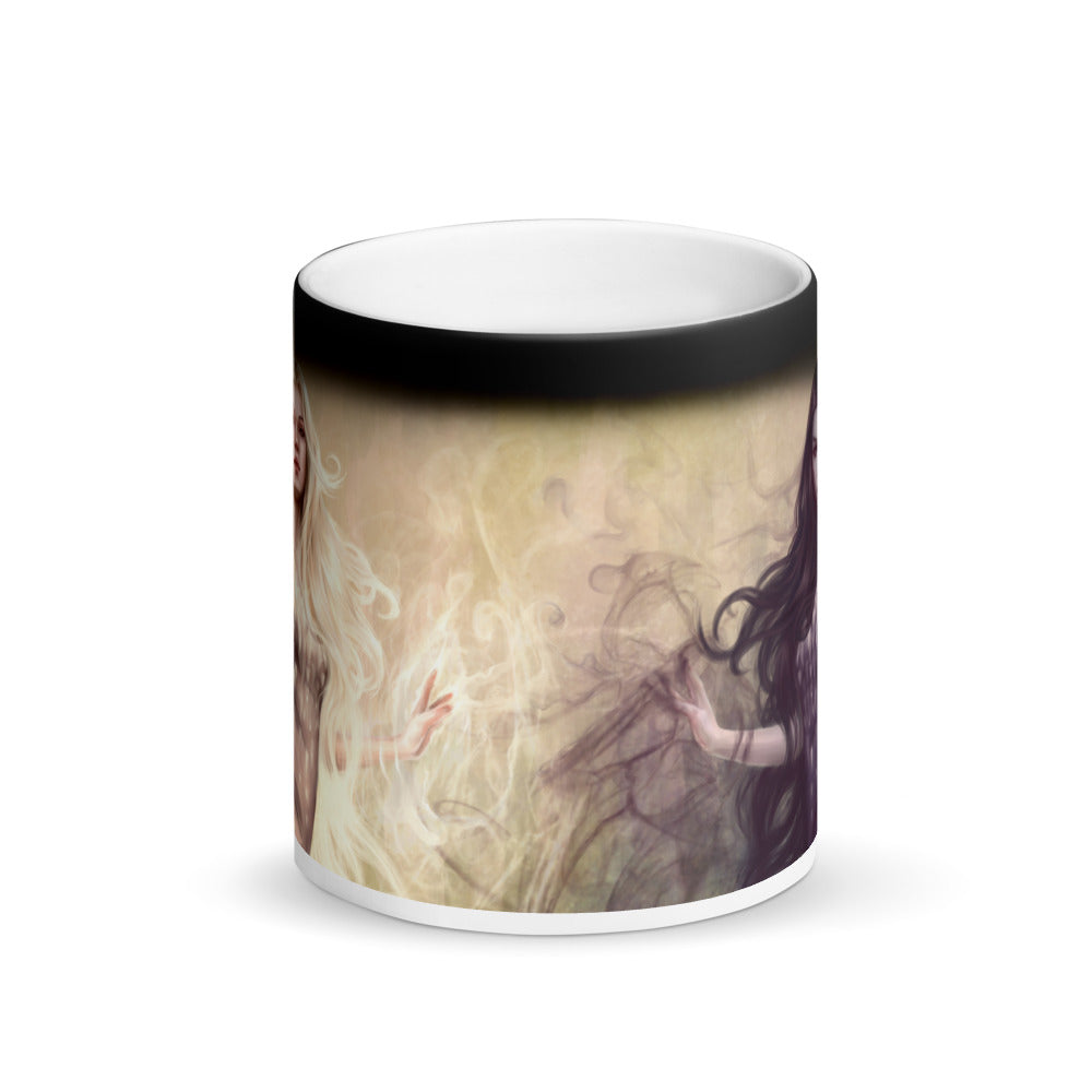 Matte Black Magic Mug - Light and Dark