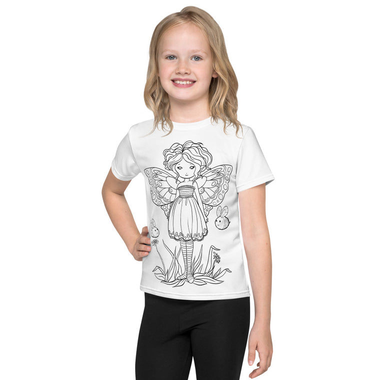 Kids T-Shirt - Buzzy Buddies - colour your own