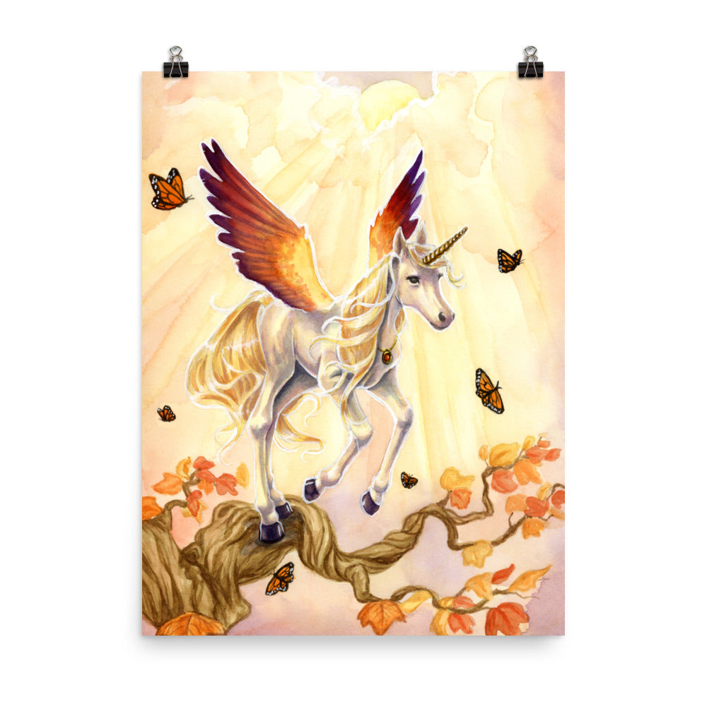 Art Print - Unicorn Sisters Sunset