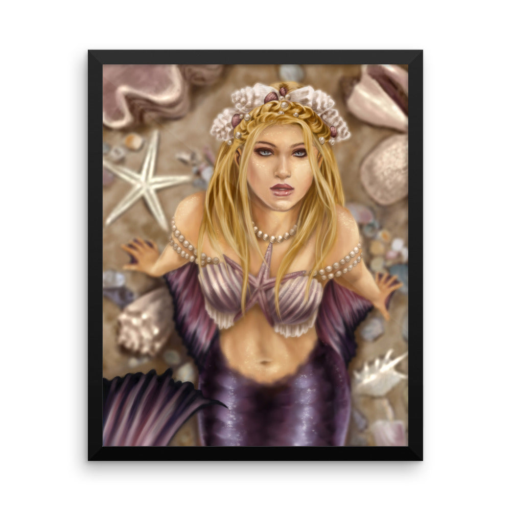 Framed Print - Shell Princess