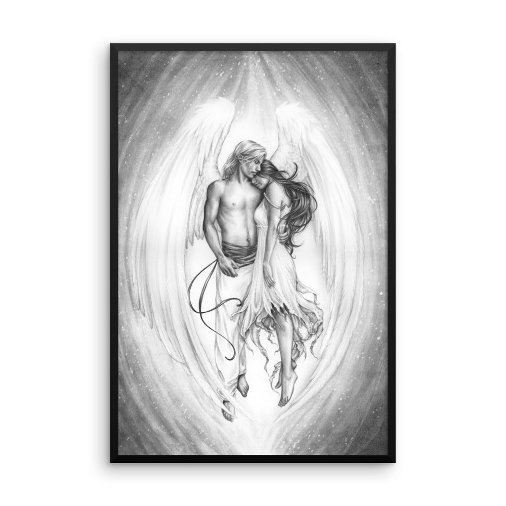Framed Print - Guardian - Black and White