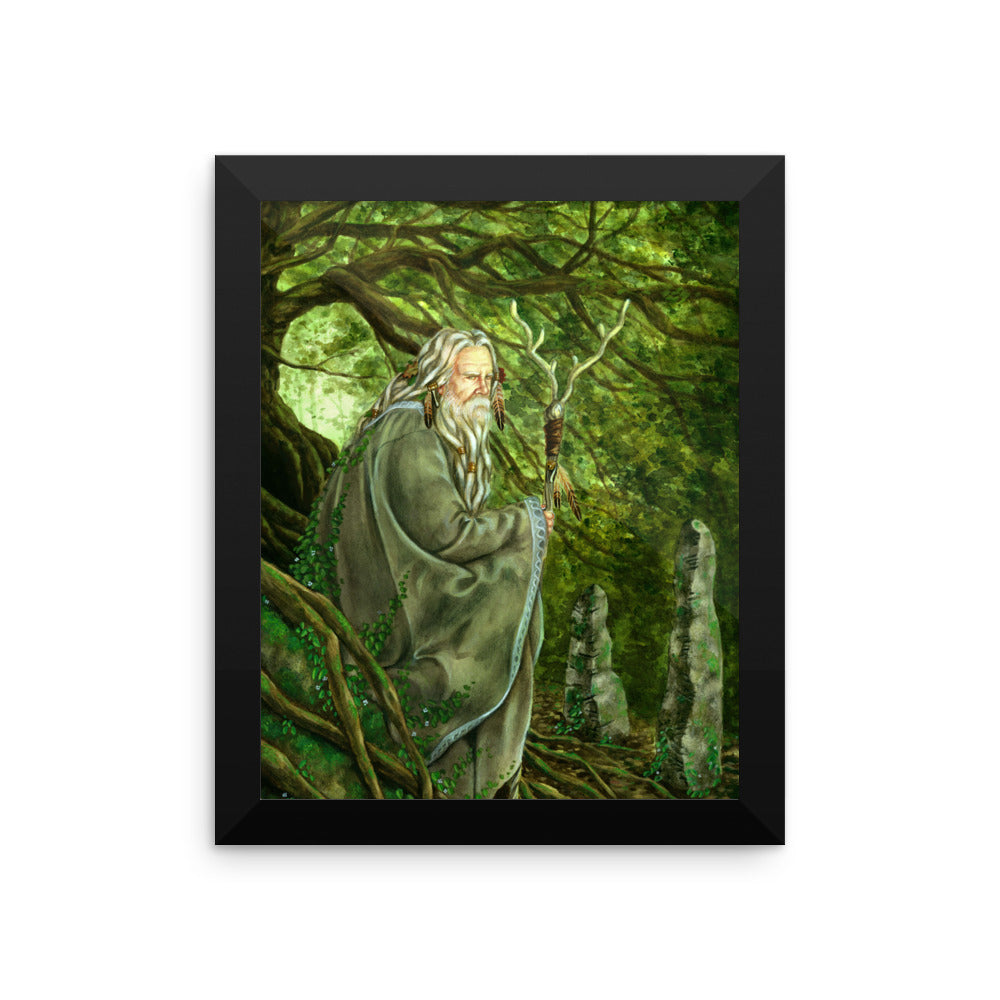 Framed Print - Merlin's Temple
