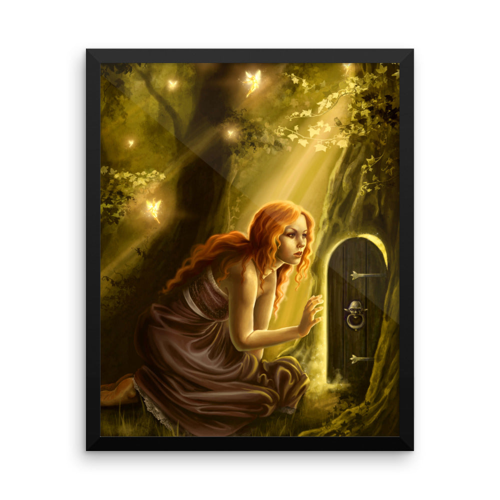 Framed Print - Secret Doorway