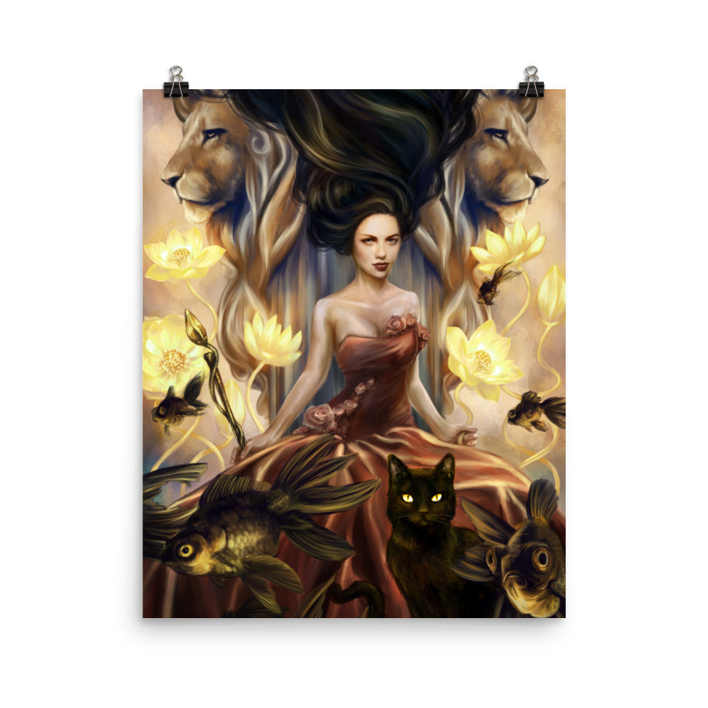 Art Print - Queen of Wands - 78 Tarot Nautical