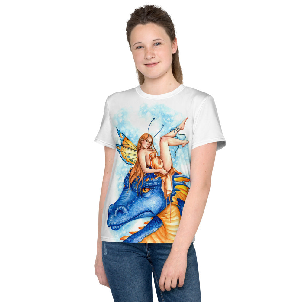 Youth T-Shirt - Dragonfae Blue