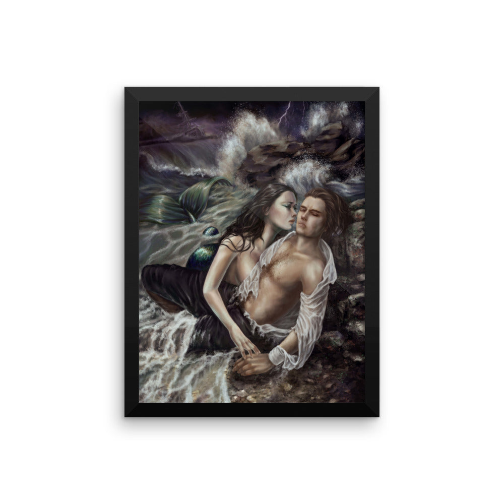 Framed Print - Mermaid's Loss