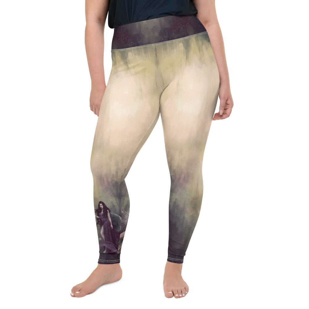 Plus Size Leggings - Light and Dark