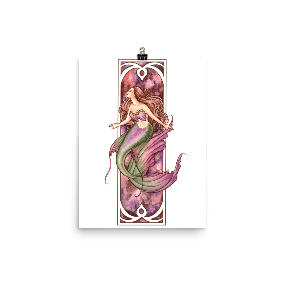 Art Print - Nouveau Mermaid Earth