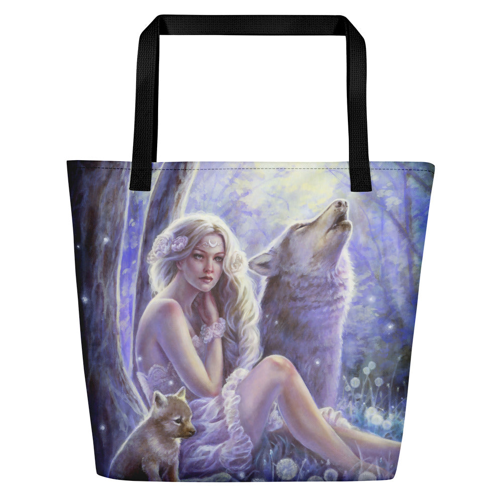 Beach Bag - Wolf Princess