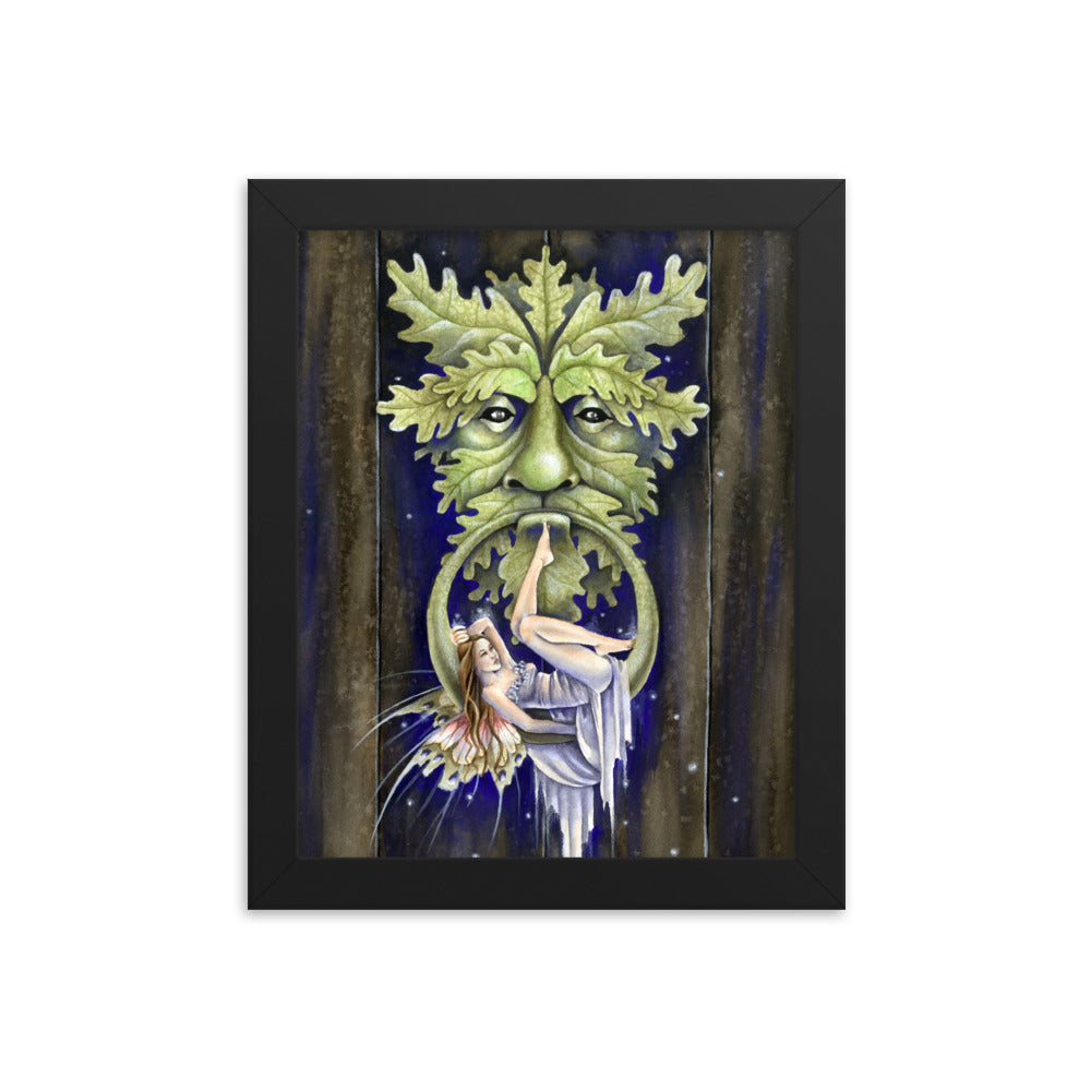 Framed Print - Greenman's Door