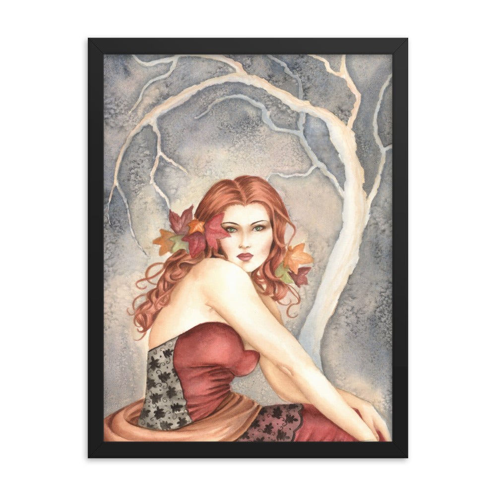 Framed Print - Autumn in Lace