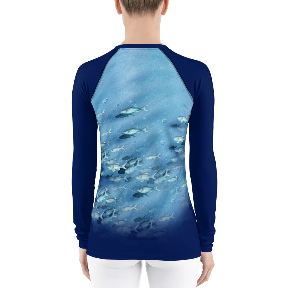 Women's Rash Guard - Dark Waters