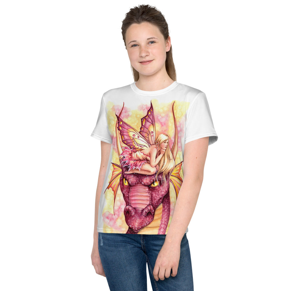 Youth T-Shirt - Dragonfae Pink