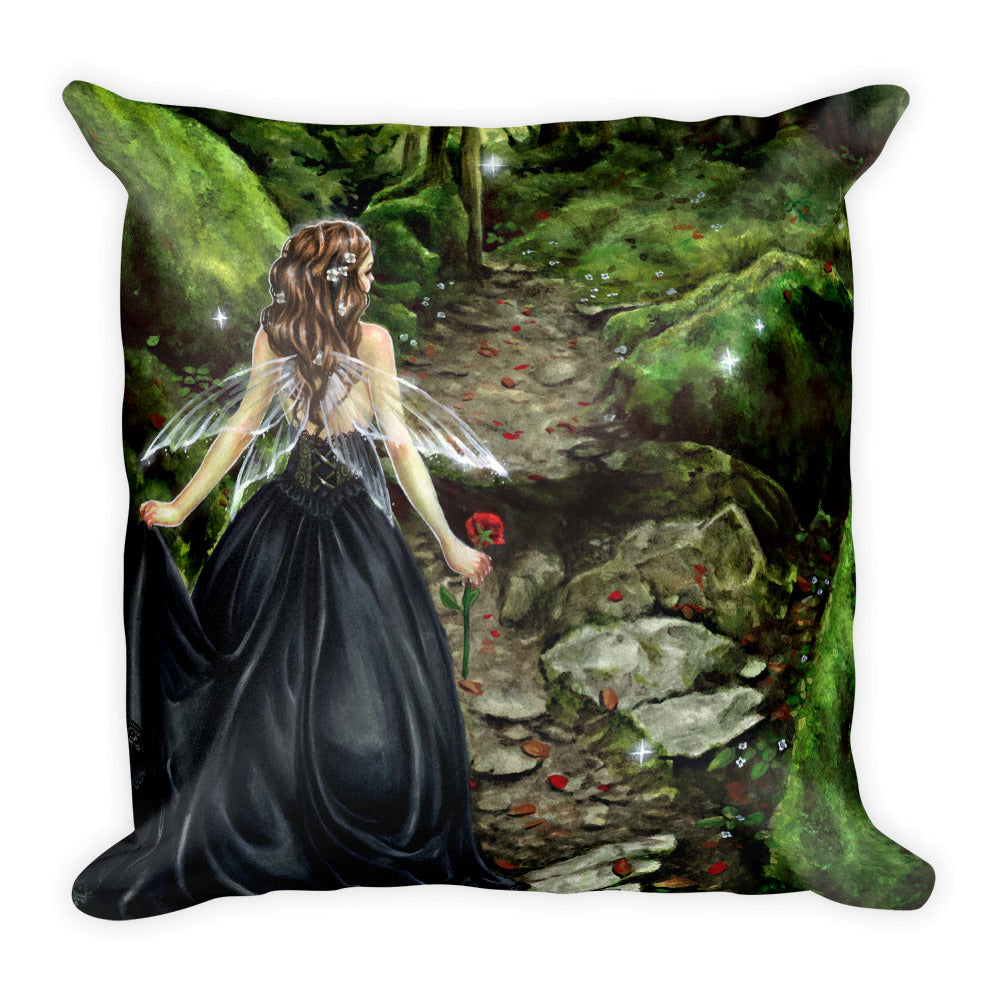 Square Pillow - Along the Forest Path
