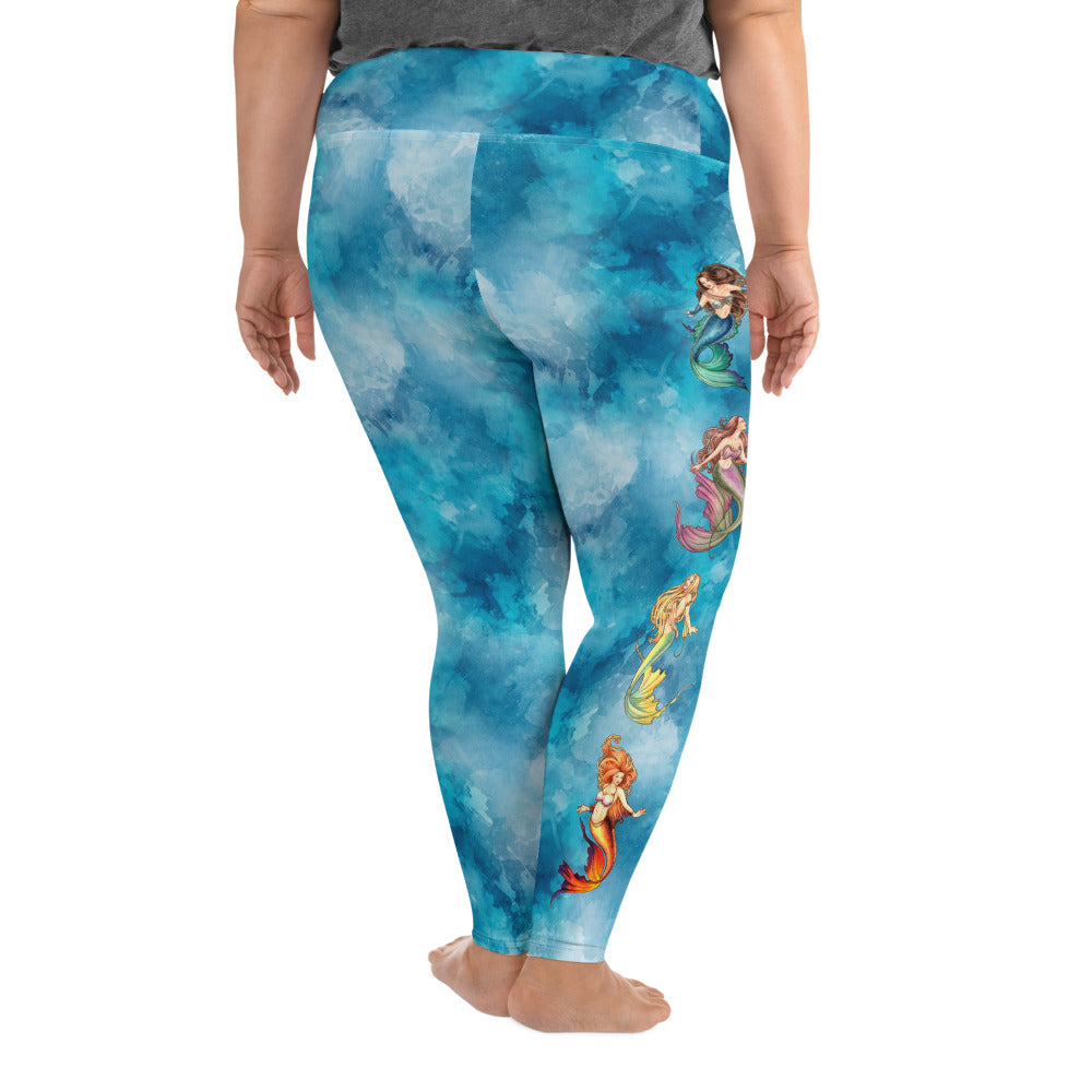 Plus Size Leggings - Nouveau Mermaids