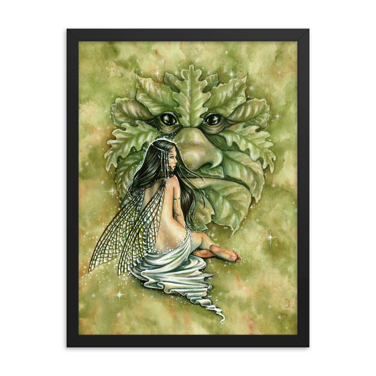 Framed Print - Greenman's Bride