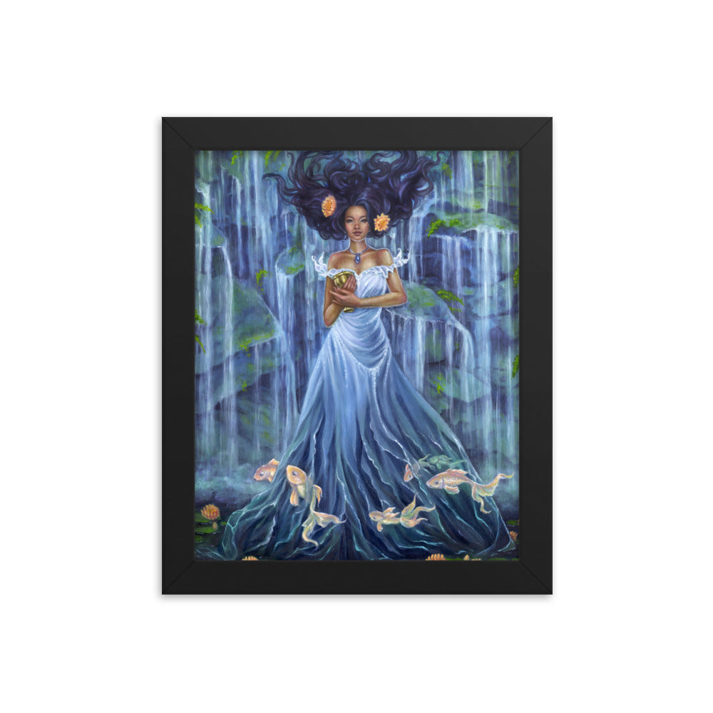 Framed Print - Lady of Water