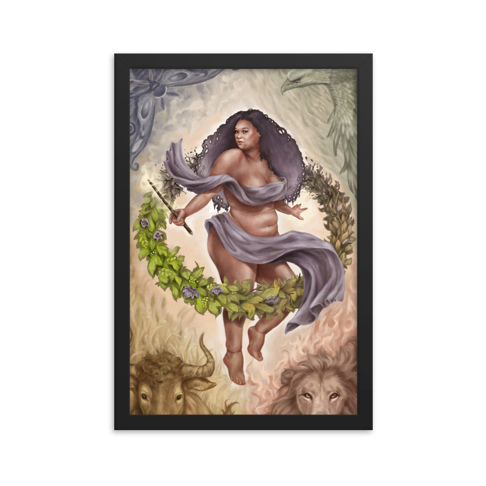Framed Print - The World - 78 Tarot