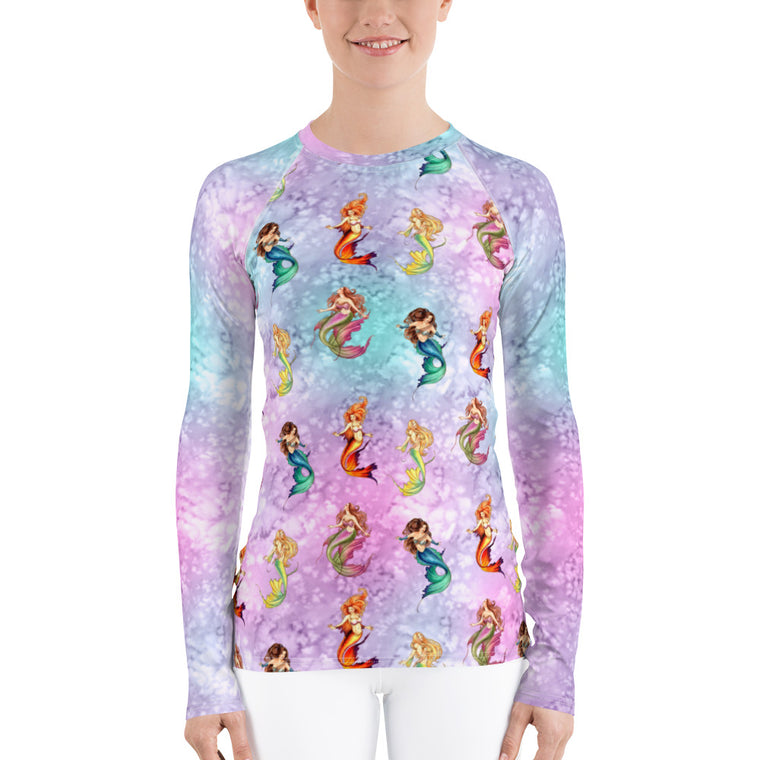 Women's Rash Guard - Nouveau Mermaids