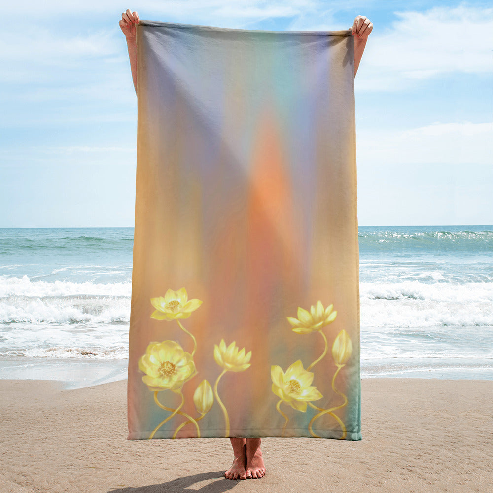 Towel - Gold Lotus
