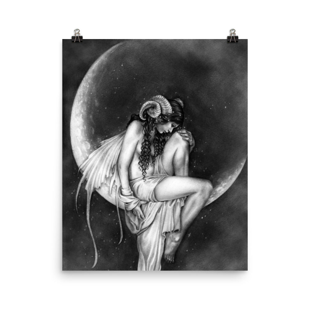 0f625e0e2a01 Art Print - Dark Moon - Selina s Fairies and Fantasy