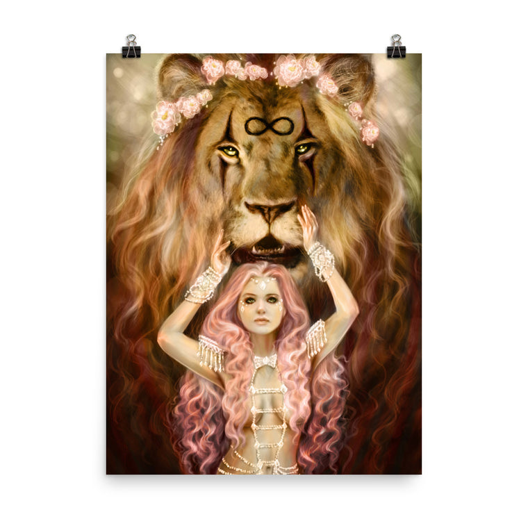 Art Print - Strength - 78 Tarot Carnival