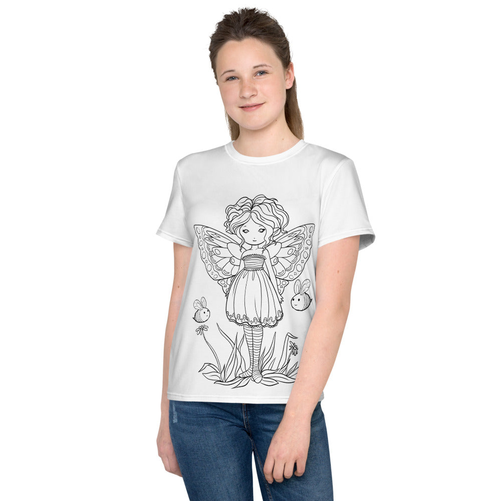 Youth T-Shirt - Buzzie Buddies - colour your own