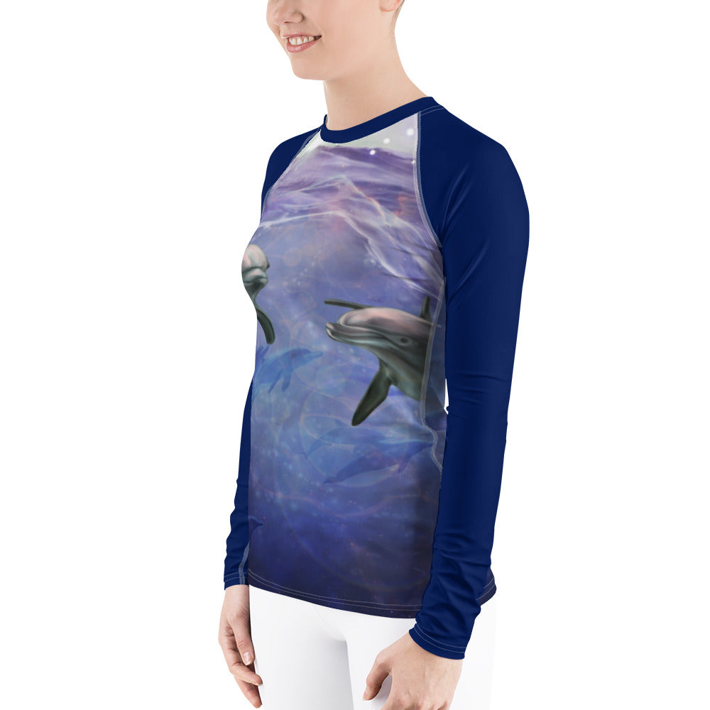 Women's Rash Guard - Ocean Magic