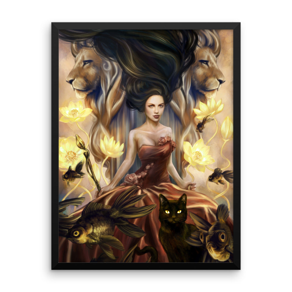 Framed Print - Queen of Wands - 78 Tarot Nautical