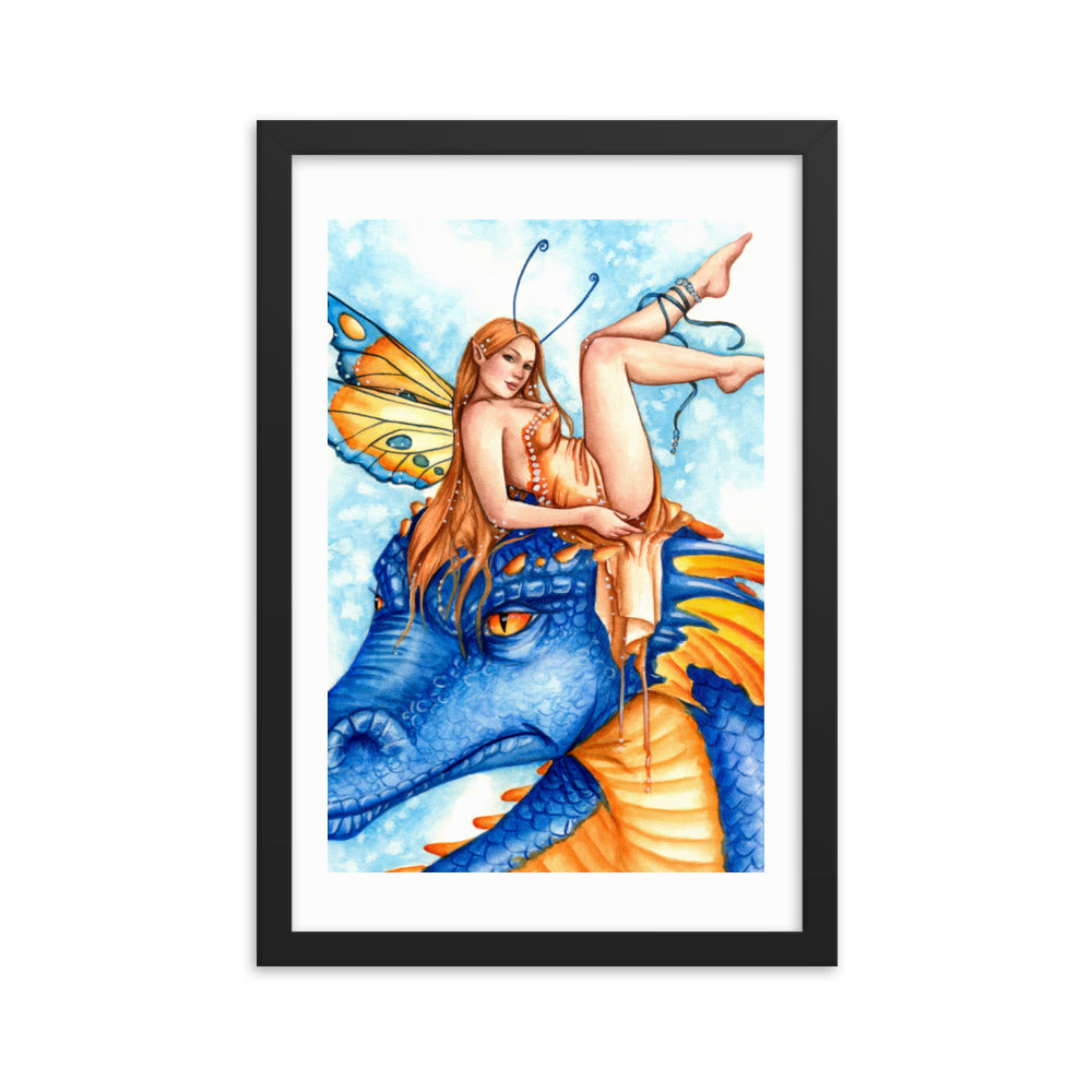 Framed Print - Dragonfae Blue