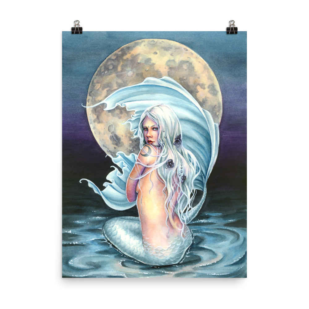 Art Print - Moon Mermaid
